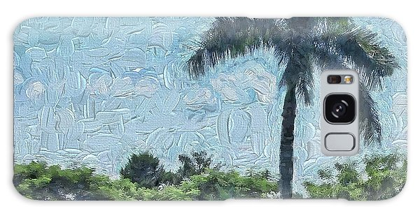 A Monet Palm Galaxy Case