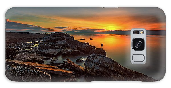 A Morning On The Rocks Galaxy Case