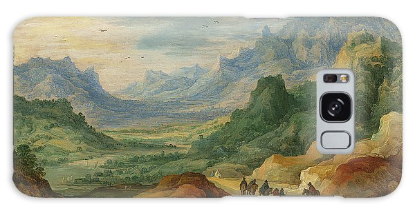 A Mountainous Landscape With Travellers And Herdsmen On A Path Galaxy Case by Jan Brueghel and Joos de Momper