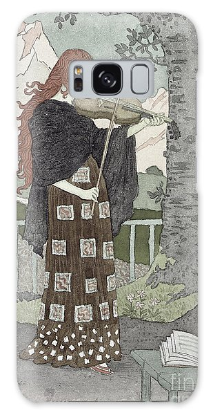 Violin Galaxy S8 Case - A Musician by Eugene Grasset