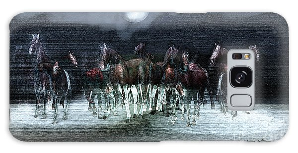 A Night Of Wild Horses Galaxy Case