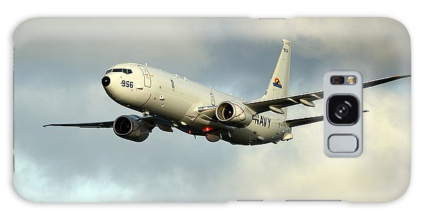 Galaxy Case featuring the photograph A P-8a Poseidon In Flight by Stocktrek Images