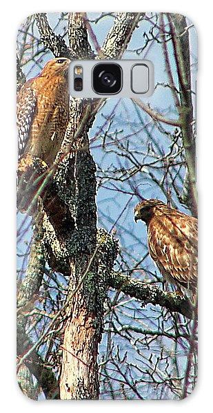 A Pair Of Hawks Galaxy Case