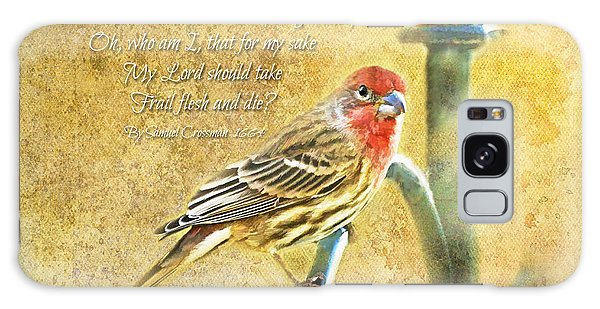 A Pair Of Housefinches With Verse Part 2 - Digital Paint Galaxy Case