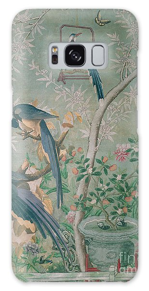 A Pair Of Magpie Jays  Vintage Wallpaper Galaxy Case