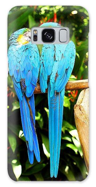 A Pair Of Parrots Galaxy Case