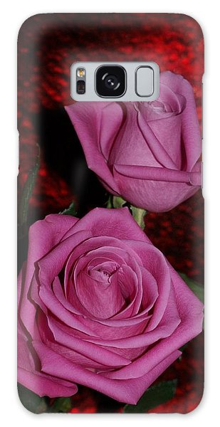 A Pair Of Pink Roses Galaxy Case