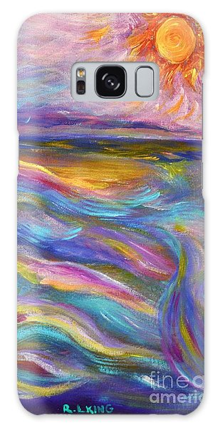 A Peaceful Mind - Abstract Painting Galaxy Case by Robyn King