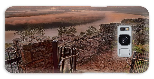 Galaxy Case featuring the photograph A Petit Jean Sunrise - Arkansas - Landscape by Jason Politte