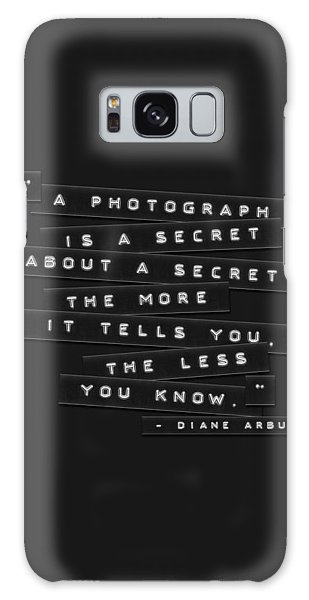 A Photograph Is A Secret Embossed Labels Galaxy Case