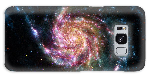 A Pinwheel In Many Colors Galaxy Case