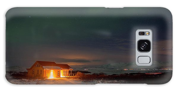 Galaxy Case featuring the photograph A Place For The Night, South Of Iceland by Dubi Roman