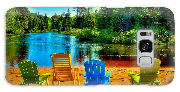 A Place To Relax At Singing Waters Galaxy Case
