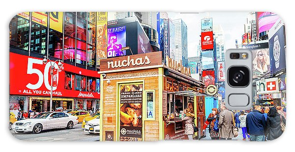 A Portable Food Stand In New York Times Square Galaxy Case