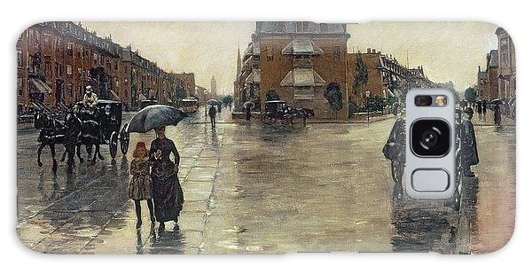 Crt Galaxy Case - A Rainy Day In Boston by Childe Hassam