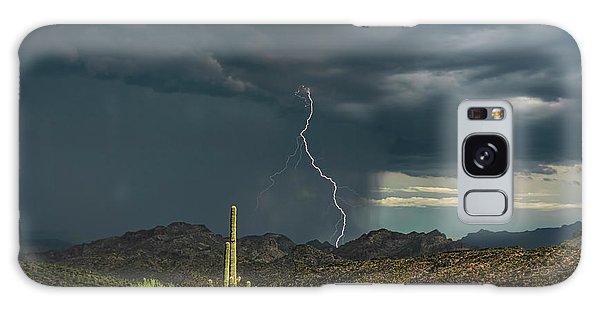 Galaxy Case featuring the photograph A Rainy Sonoran Day  by Saija Lehtonen