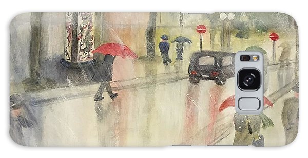 A Rainy Streetscene  Galaxy Case by Lucia Grilletto