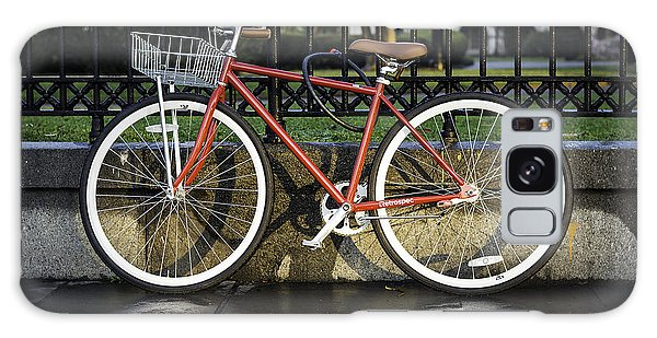 A Red Bicycle Near Jackson Square, New Orleans, Louisian Galaxy Case