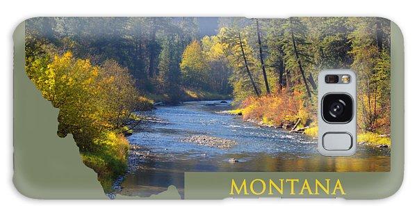 A River Runs Thru Autumn Galaxy Case