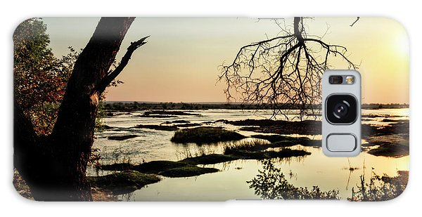 A River Sunset In Botswana Galaxy Case