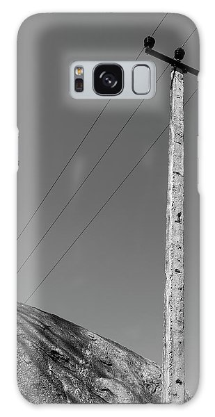 Galaxy Case featuring the photograph A Rock And A Pole, Hampi, 2017 by Hitendra SINKAR