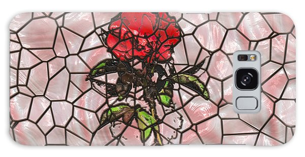 A Rose On Stained Glass Galaxy Case