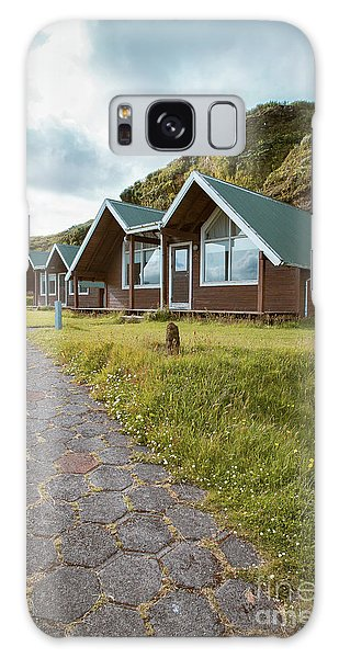 Galaxy Case featuring the photograph A Row Of Cabins In Iceland by Edward Fielding