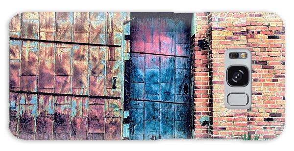 A Rusty Loading Dock Door Galaxy Case