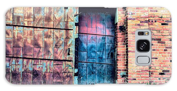 A Rusty Loading Dock Door Galaxy Case