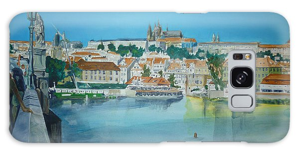 A Scene In Prague 3 Galaxy Case by Bryan Bustard