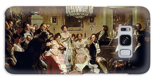 People Galaxy Case - A Schubert Evening In A Vienna Salon by Julius Schmid