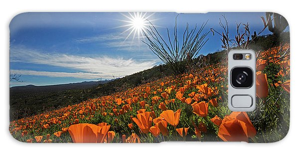 A Sea Of Poppies Galaxy Case