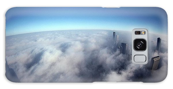 Chicago Skyline Galaxy Case - A Shadow Of The Sears Tower Slants by Steve Raymer