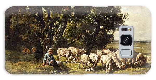 Sheep Galaxy Case - A Shepherd And His Flock by Charles Emile Jacques