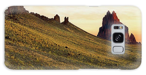 Galaxy Case featuring the photograph A Shiprock Sunrise - New Mexico - Landscape by Jason Politte