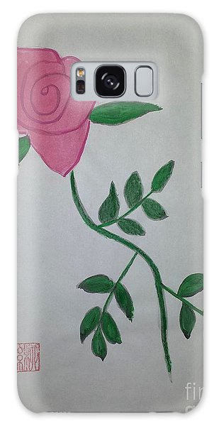 A Single Red Rose Galaxy Case