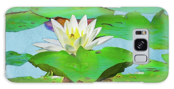 A Single Water Lily Blossom Galaxy Case