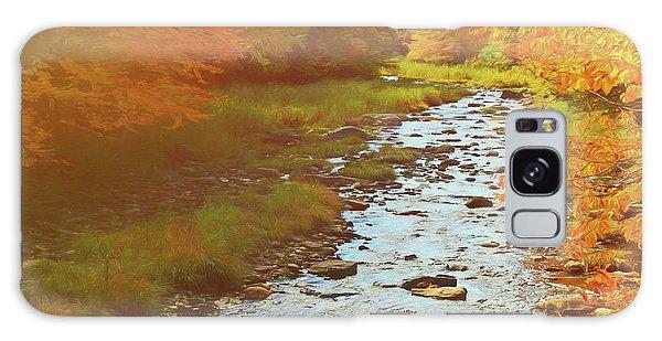 A Small Stream Bright Fall Color. Galaxy Case