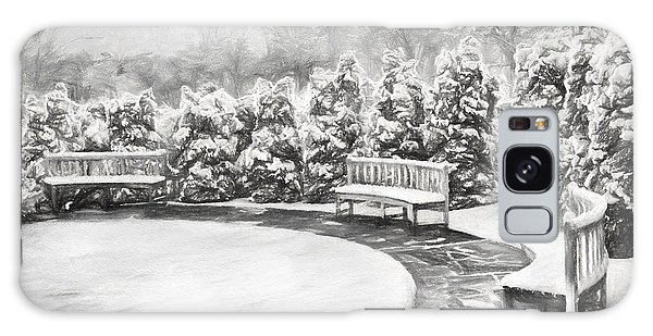 A Snowy Day In The Park Bw Galaxy Case by Dan Carmichael