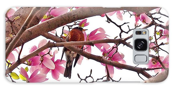 Florals Galaxy Case - A Songbird In The Magnolia Tree by Rona Black