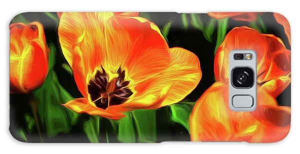 Tulips Galaxy Case - A Splash Of Color by Tom Mc Nemar