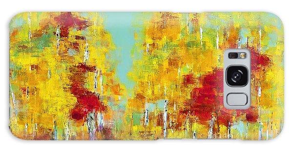 A Splash Of Red Galaxy Case by Frances Marino
