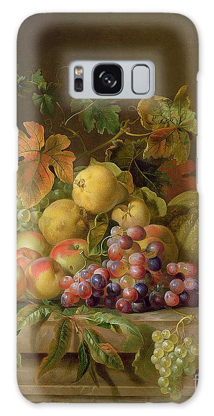 A Still Life Of Melons Grapes And Peaches On A Ledge Galaxy Case