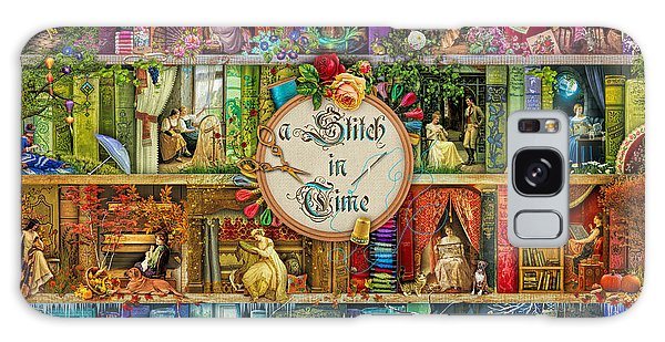 Shelves Galaxy Case - A Stitch In Time by MGL Meiklejohn Graphics Licensing
