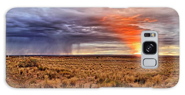 Galaxy Case featuring the photograph A Stormy New Mexico Sunset - Storm - Landscape by Jason Politte