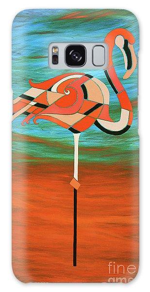 A Straight Up Flamingo Galaxy Case