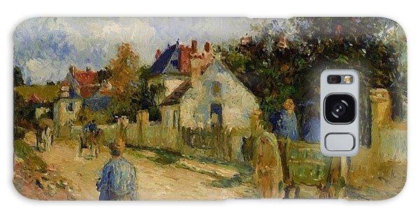 A Street In Pontoise 1879 Galaxy Case