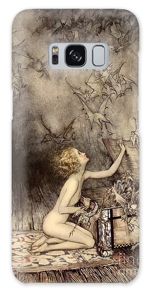A Sudden Swarm Of Winged Creatures Brushed Past Her Galaxy Case by Arthur Rackham
