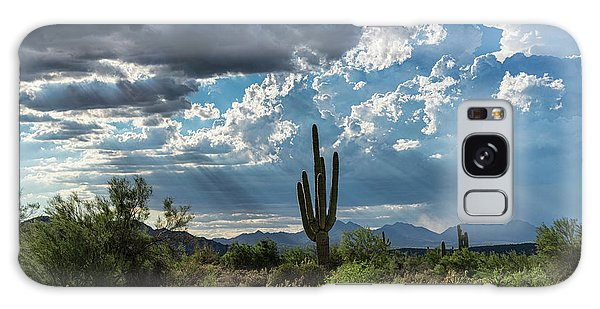 Galaxy Case featuring the photograph A Summer Day In The Sonoran  by Saija Lehtonen