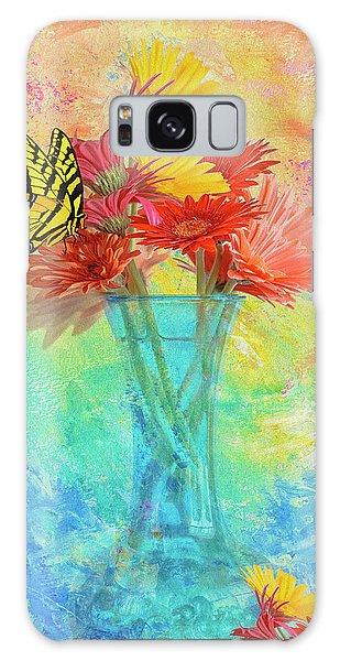 A Summer Time Bouquet Galaxy Case by Diane Schuster